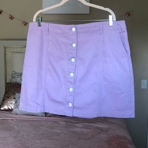 NWOT Forever 21 curve Plus 1x lavender mini skirt
